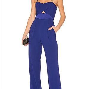 Diane von Furstenberg Royal Blue Valda Jumpsuit